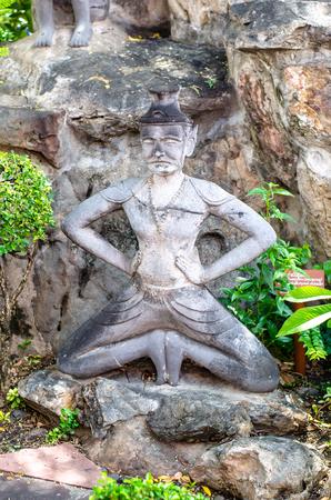 Ascetic statue at wat pho Bangkok Thailand