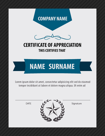 certificate  calligraphy: vertical  certificate template,diploma,Letter size ,vector