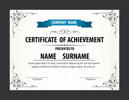 diploma template: horizontal certificate template,diploma,Letter size ,vector