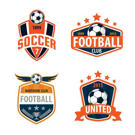 Distintivo calcio disegno collezione template del logo, la squadra di calcio, vettore illuatration Archivio Fotografico - 46627448