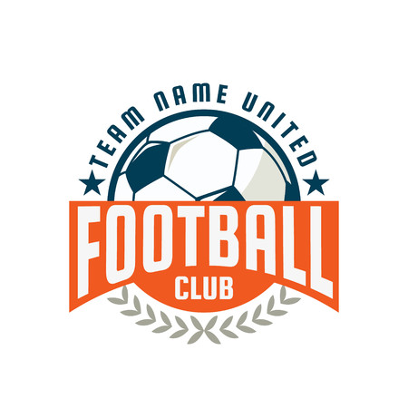 Insignia de Fútbol de diseño de logotipo plantilla, equipo de fútbol, ??vector illuatration Foto de archivo - 46627450