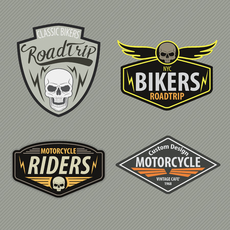 sports race: motor racing emblem set,sticker,arms,vector illustration