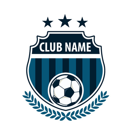 soccer: Football badge logo template design,soccer team,vector illuatration