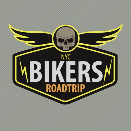 motor racing: Motor Racing emblema, etiqueta engomada, brazos, ilustraci�n vectorial Vectores