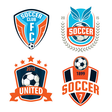 football badge logo template collection design,soccer team,vector illuatration Фото со стока - 46627554