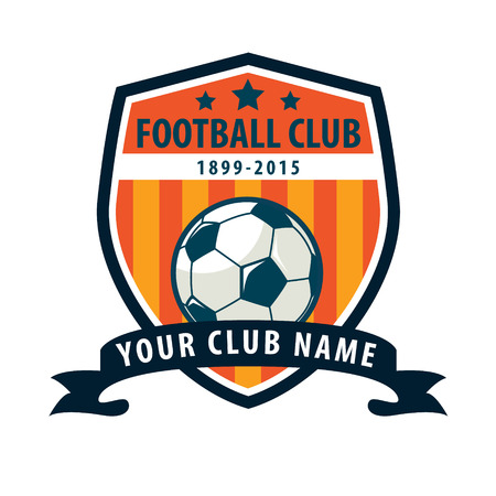 soccer club: Football badge logo template design,soccer team,vector illuatration