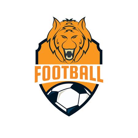 soccer team: Football logo design , soccer team, vector illustration