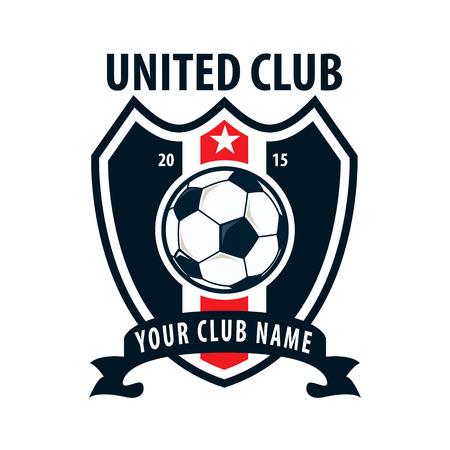 Football badge logo template design,soccer team,vector illuatration