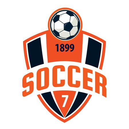 banni�re football: Badge Football logo de conception de mod�le, �quipe de football, vecteur Illuatration