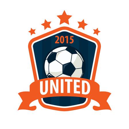 bannière football: Badge Football logo de conception de modèle, équipe de football, vecteur Illuatration