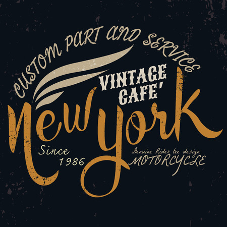 new motor vehicle: new york vintage motor typographic for t-shirt design,tee graphic,vector illustration
