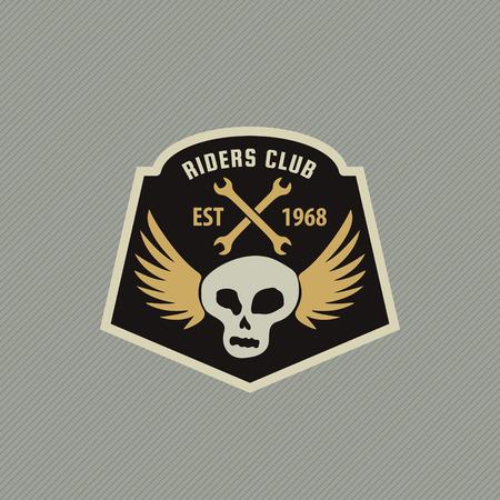racing emblem: motor racing emblem,vector illustration Illustration