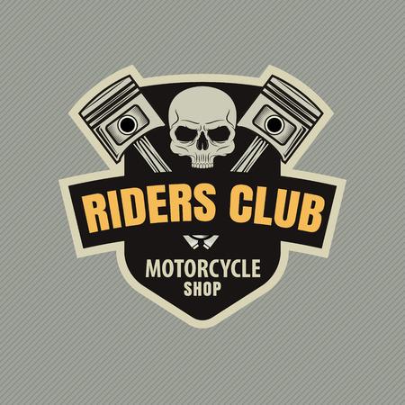 motor racing: motor racing emblem,sticker,vector illustration Illustration