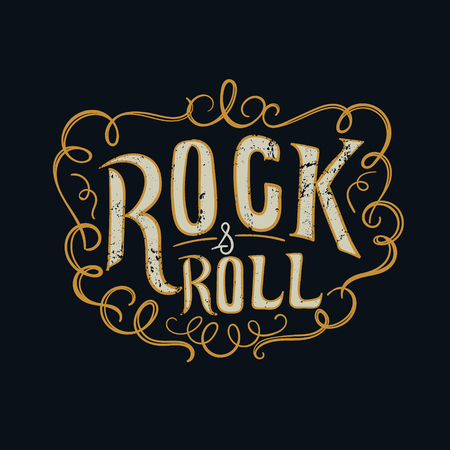 sixties: rock and roll  typographic for t-shirt,t-design,vector illustration