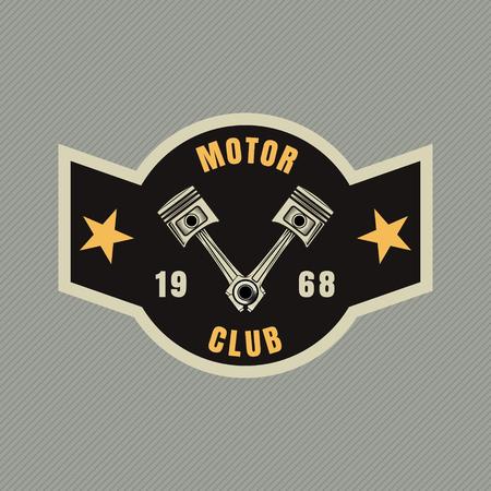 motor racing: motor racing emblem,sticker,arms,vector illustration