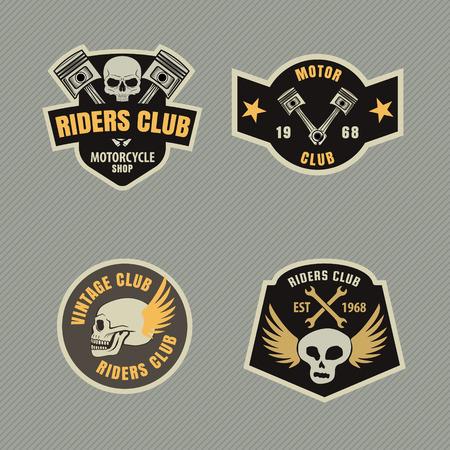racing emblem: motor racing emblem set,sticker,arms,vector illustration