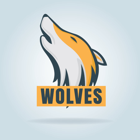 decal: vector graphic of wolf,design for  badge,decal,etc