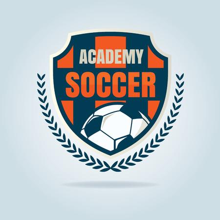 football badge template collection design,soccer team,vector illustration Vektorové ilustrace