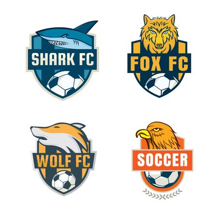 insignia de fútbol diseño de la colección plantilla de logotipo, equipo de fútbol, ??vector illuatration