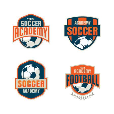 football badge logo template collection design,soccer team,vector illustration