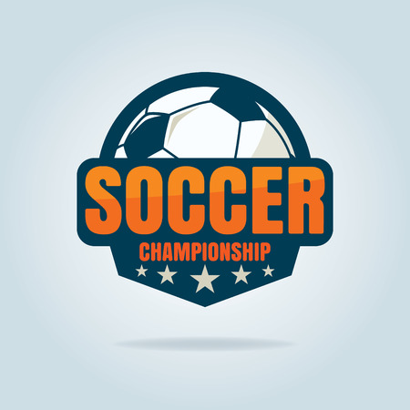 soccer team: football badge  template collection design,soccer team,vector illustration