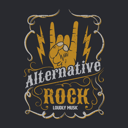 alternative rock: alternative rock graphic for apparel, tee design,vector illustration Illustration