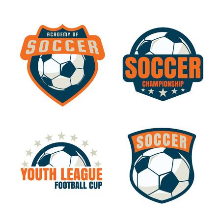 football badge template collection design,soccer team,vector illustration