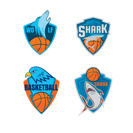 Basketball  template collection,vector illustration