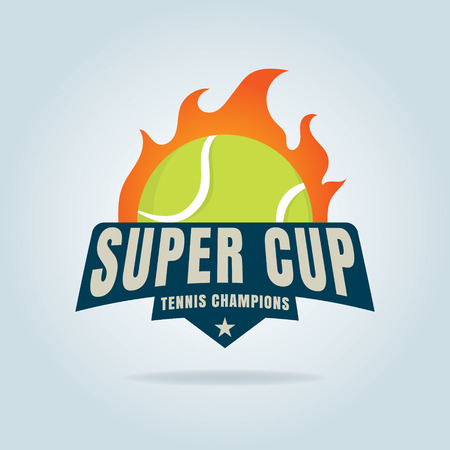 decal: tennis  ,championship,tournament,decal,vector illustration