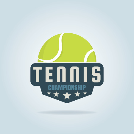 championship: tennis  ,championship,tournament,decal,vector illustration