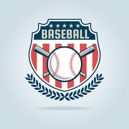 Baseball badge,sport  team identity,vector illustration Illustration