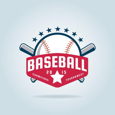 badge Baseball, sport, identité de l'équipe, illustration vectorielle