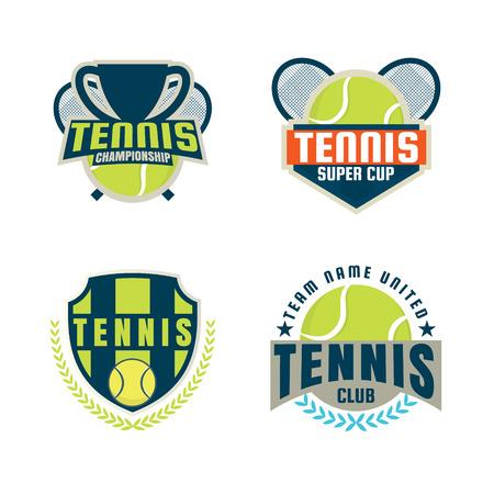 decal: tennis   set,championship,tournament,decal,vector illustration