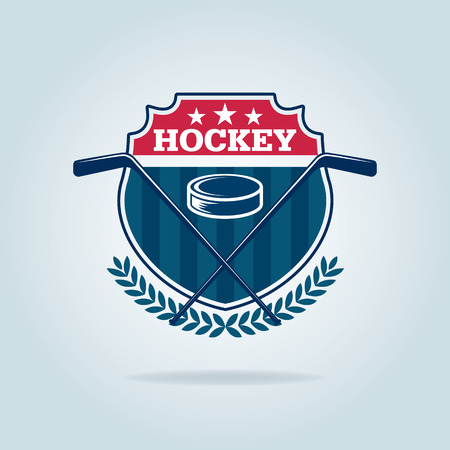puck: hockey  ,sport identity,team,tournament. Illustration
