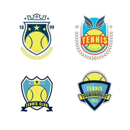 decal: tennis  set,championship,tournament,decal,vector illustration Illustration