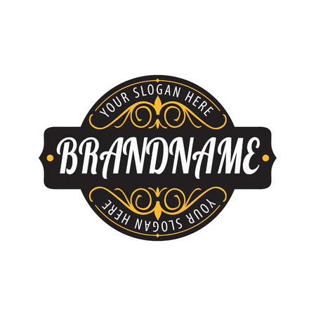 caligraphic: Vintage  calligraphic  frames,elements for your logo template,label,emblem,badge,brand identity,menu restaurant