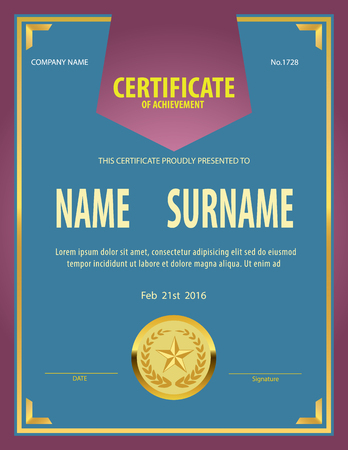 graduate asian: certificate template,diploma,Letter size ,layered vector Illustration