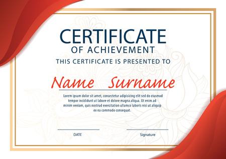 A4 Size Certificate Templates Leoncapers