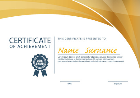 Certificate Templatediploma Layouta4 Size Vector Royalty Free