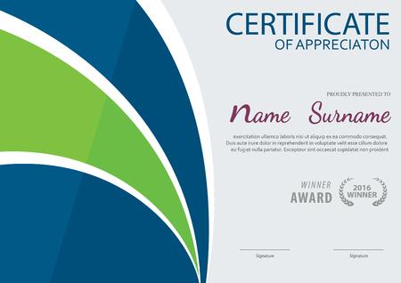 Vorlage Zertifikat, Diplom-Layout, Format A4, Vektor Vektorgrafik