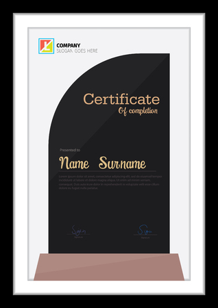 Template for colorful modern diploma.