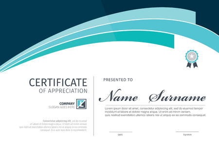 Template vector for certificate or diploma.