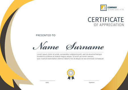 Vector template for certificate or diploma Stock Illustratie