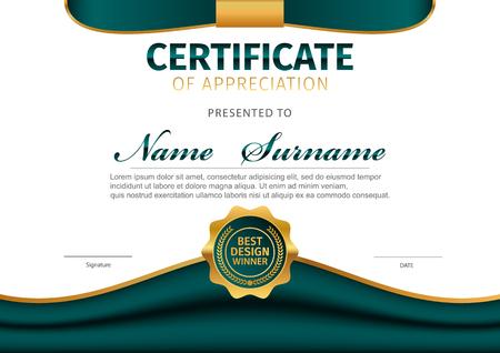 Vector template for certificate or diploma Illusztráció