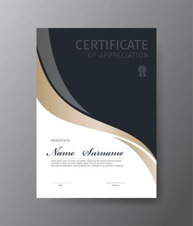Vector template for certificate or diploma Illustration