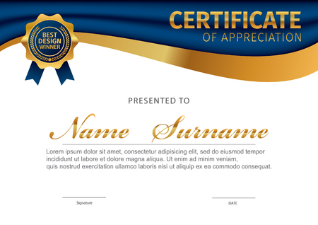 Vector template for certificate or diploma 일러스트