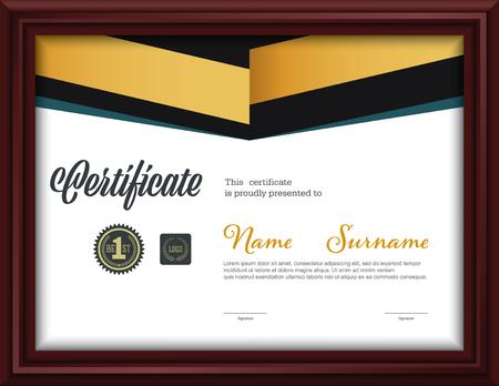 certificate template,letter size diploma, vector illustration Illustration