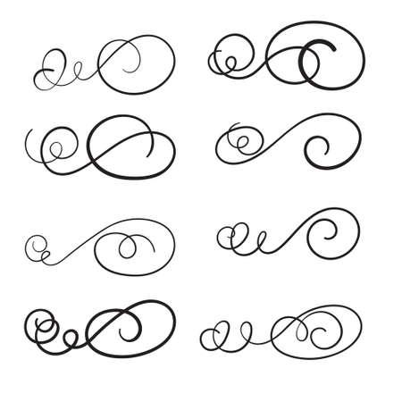 Hand draw swirl ornament decoration vector design