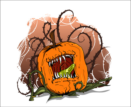 vicious: vicious pumpkin alive with thorn tentacles