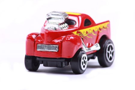 toy cars: red toy car Stock Photo